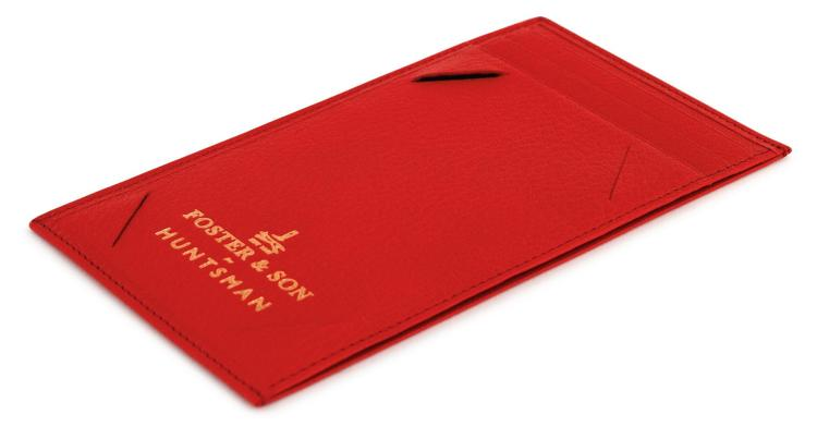 HUNTSMAN BESPOKE ROYAL RED EVENING WALLET | Foster and Son