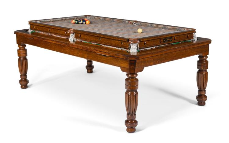 HUNTSMAN BESPOKE TWEED DUAL FUNCTION POOL AND DINING TABLE | W. T. Burgess