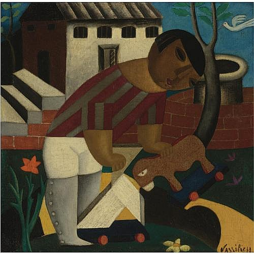 Marie Vassilieff , Child with Toy, circa 1920