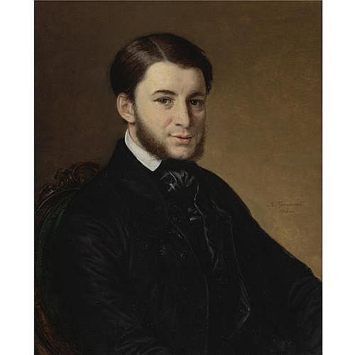 Vasilii Andreevich Tropinin , Portrait of Mouromtzev, 1854