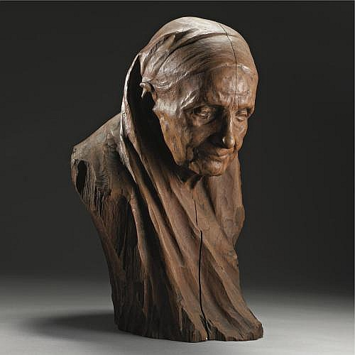 Naum Aronson , Bust Portrait of an Old Woman