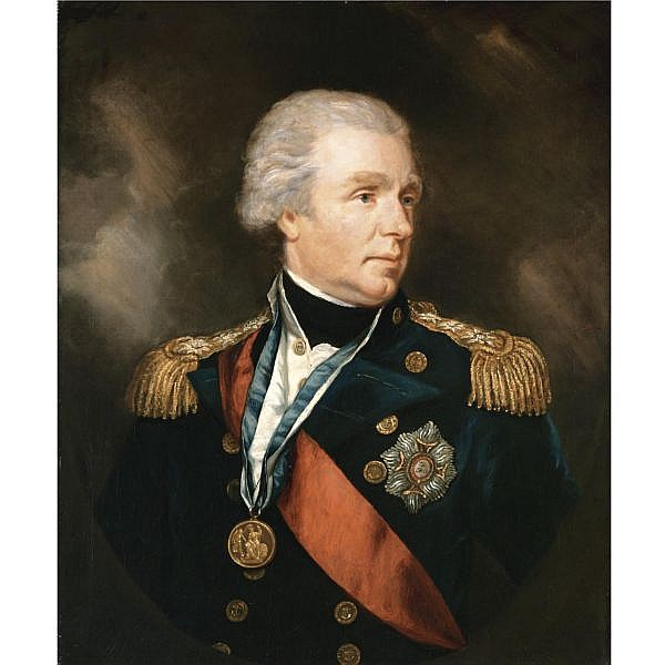 James Northcote R.A. 1746-1831 , Portrait of Admiral William Waldegrave, 1st Baron Radstock (1753-1825) oil on canvas