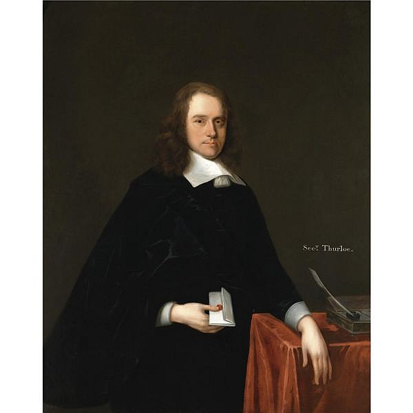 Thomas Ross fl. 1730-1746 , Portrait of John Thurloe (1616-1668) oil on canvas