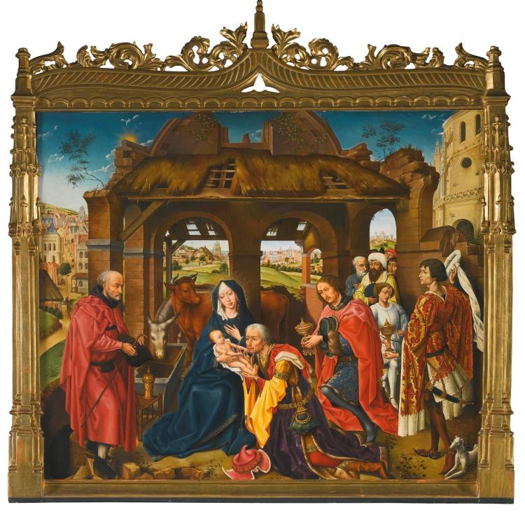 MANUEL LOPEZ VAZQUEZ (GRANADA 1920 – 2004), AFTER ROGIER VAN DER WEYDEN | The Adoration of the Magi