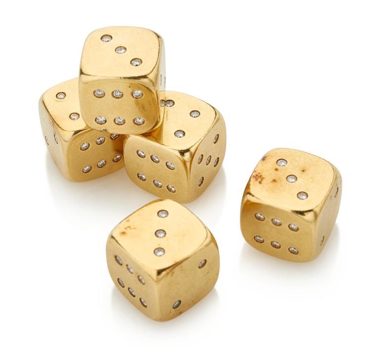 FIVE DIAMOND DICE (CINQUE DADI IN DIAMANTI )
