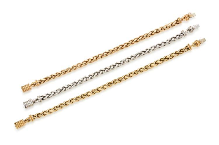 THREE DIAMOND BRACELETS (TRE BRACCIALICON DIAMANTI)