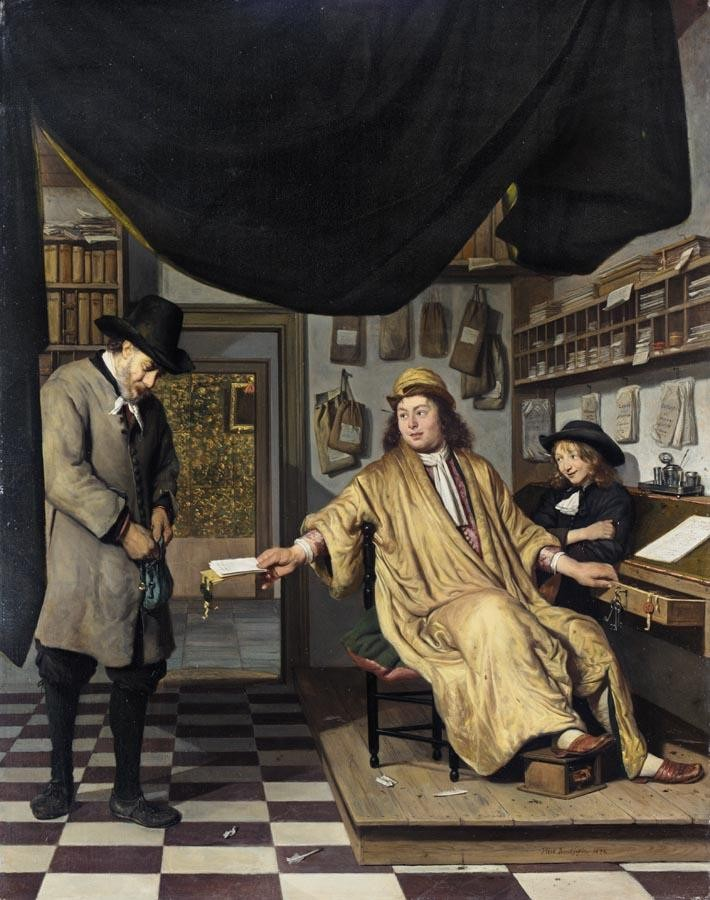 PROPERTY FROM A PRIVATE COLLECTION JOB ADRIAENSZ. BERCKHEYDE HAARLEM 1630 - 1693 A NOTARY IN HIS