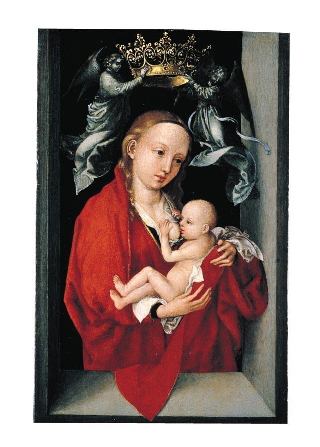 THE PROPERTY OF A GENTLEMAN MARTIN SCHONGAUER COLMAR CIRCA 1445 - 1491 BREISACH 'MARIA LACTANS':