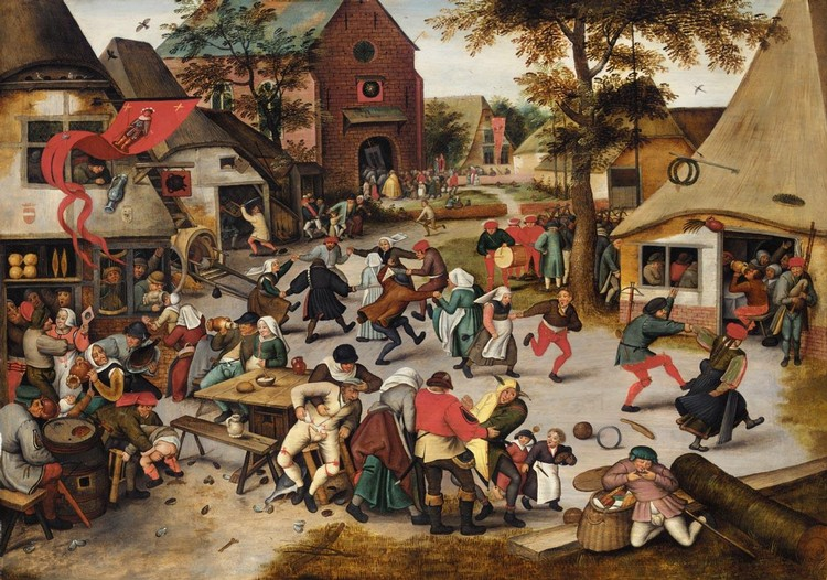 THE PROPERTY OF A TRUST PIETER BRUEGHEL THE YOUNGER BRUSSELS 1564-1637/8 ANTWERP THE KERMESSE OF