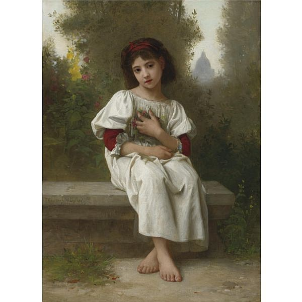 Elizabeth Jane Gardner Bouguereau , American 1837-1922 In the Garden oil on canvas