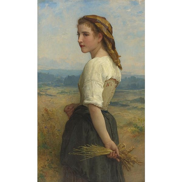 lu - William Bouguereau , French 1825-1905 Glaneuse oil on canvas