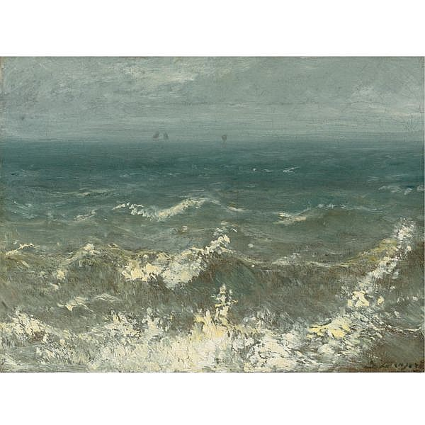 Jules Dupré , French 1811-1889 Pleine Mer oil on canvas