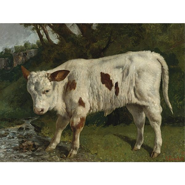 Gustave Courbet , French 1819-1877 Le Veau Blanc oil on canvas