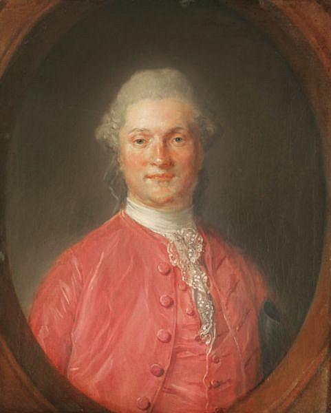 Jean-Baptiste Perronneau , Paris 1715 - 1783 Amsterdam Portrait présumé de George William Coventry, 6 ème comte de Coventry (1722-1809) Huile sur toile