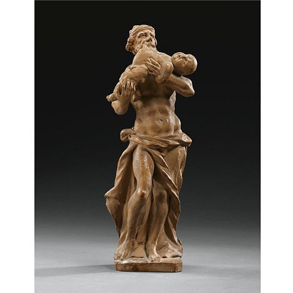 Francesco Cabianca (1665-1737) Italian, first quarter 18th century , a terracotta bozetto of Saturn