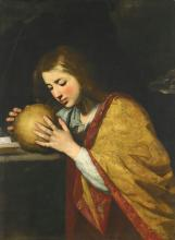 ATTRIBUTED TO MASSIMO STANZIONE   Mary Magdalene in meditation