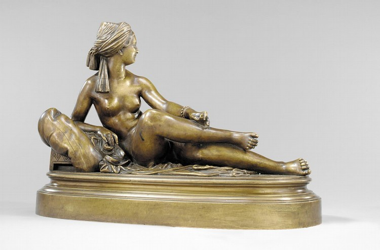 CHARLES CUMBERWORTH ENGLISH, 1812-1852 ODALISQUE COUCHÉE (A RECLINING ODALISQUE)
