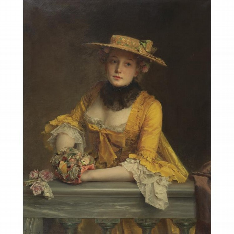 Gustave Jean Jacquet Artwork for Sale at Online Auction | Gustave ...