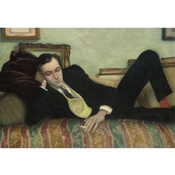 Rex Whistler , 1905-1944 Portrait of Cecil Beaton oil on canvas