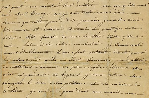 Lettre autographe signée à Alfred de Dreux-Dorcy. Londres, 12 février [1821]. , Géricault, Théodore
