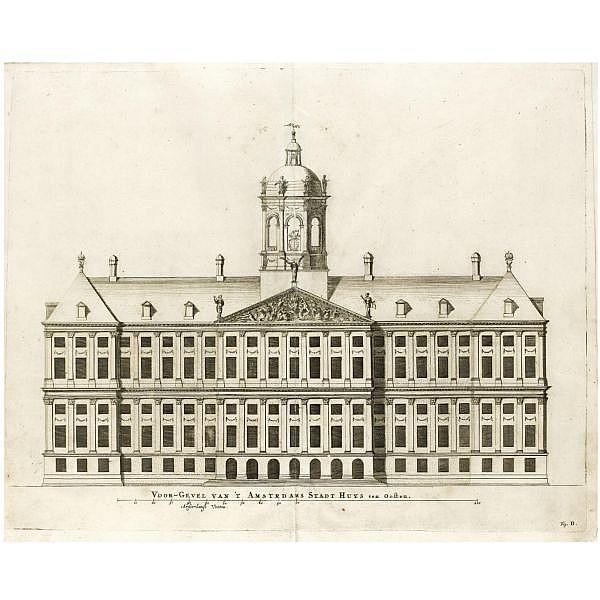 Campen, Jacob van. , Afbeelding van't stadt huys van Amsterdam. Amsterdam: Dankcjer Danckerts, 1661