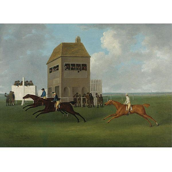 John Nost Sartorius , British 1759-1828 The Lurcher beating Kitt Carr and Ormond oil on canvas