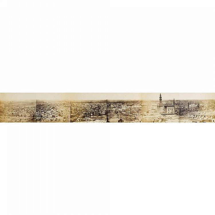 WILHELM HAMMERSCHMIDT, VUE PANORAMIQUE DU CAIRE, VERS 1860, TIRAGES SUR PAPIER ALBUMINE