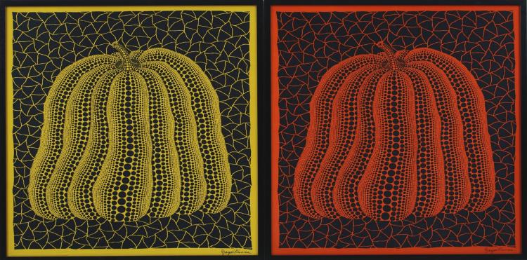 KUSAMA YAYOI | Pumpkin- Memorial scarf in Shanghai Expo (two works)