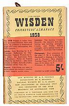 WISDEN, JOHN. CRICKETERS' ALMANACKS FOR 1898 AND 1938 (2 VOL.)