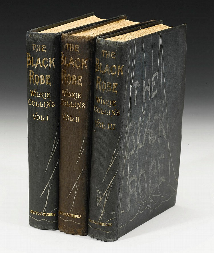 COLLINS, WILKIE. THE BLACK ROBE, 1881 (3 VOL.)
