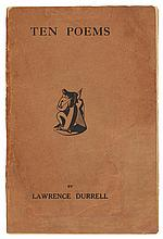 DURRELL, LAWRENCE. TEN POEMS, 1932 (1 VOL.)