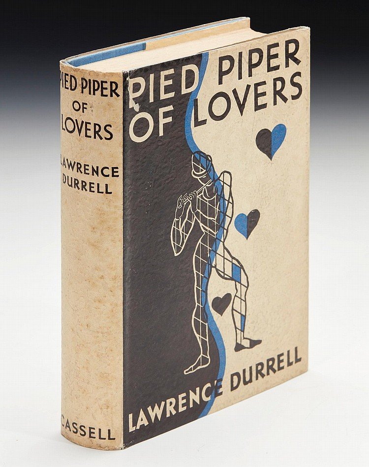 DURRELL, LAWRENCE. PIED PIPER OF LOVERS, 1935 (1 VOL.)