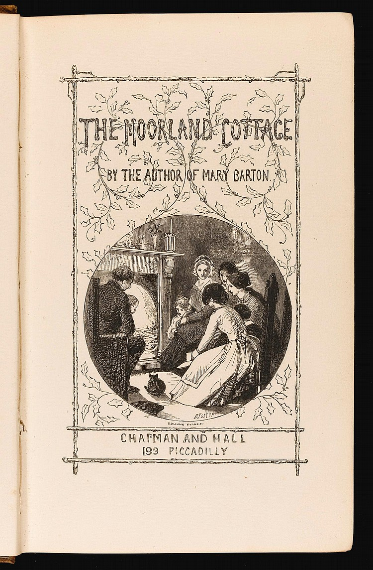[GASKELL, ELIZABETH]. THE MOORLAND COTTAGE, 1850 (1 VOL.)