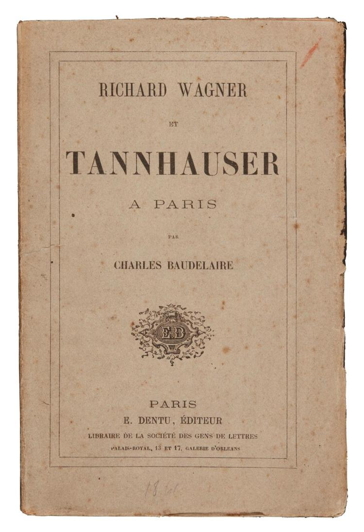 BAUDELAIRE, CHARLES. WAGNER ET TANNHAUSER A PARIS, 1861, ORIGINAL WRAPPERS (1 VOL.)