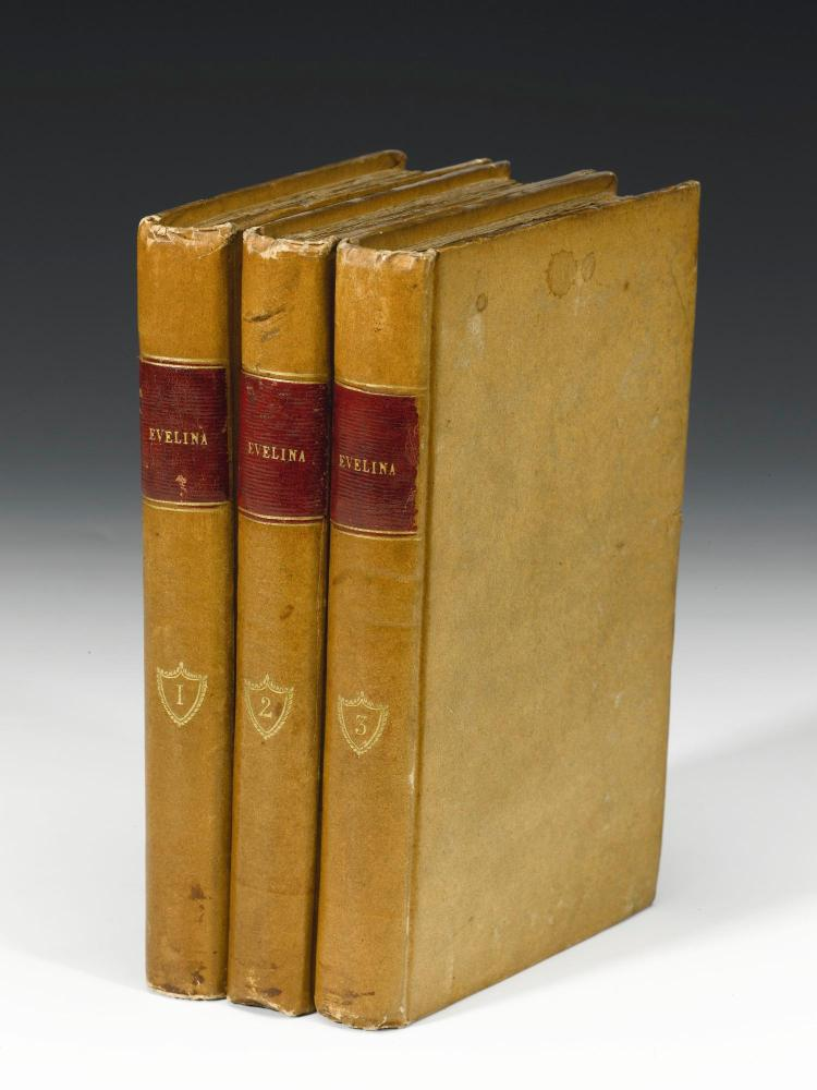 BURNEY, FANNY. EVELINA, 1808 (3 VOL.)
