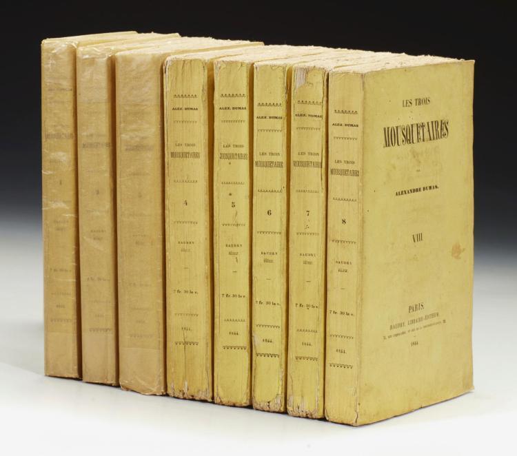 DUMAS, ALEXANDRE. LES TROIS MOUSQUETAIRES, 1844 (8 VOL.)