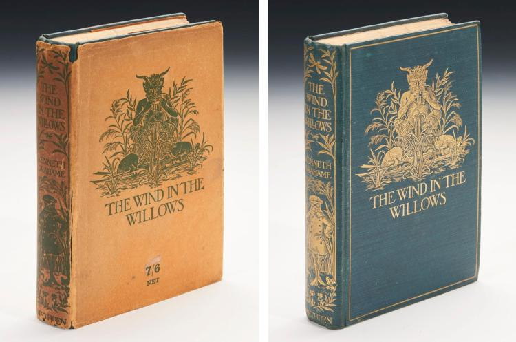 GRAHAME, KENNETH. THE WIND IN THE WILLOWS, 1908 (1 VOL.)
