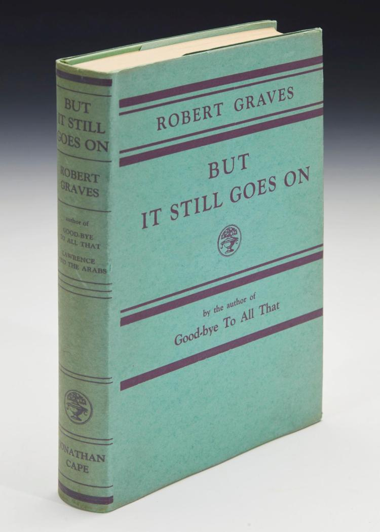 GRAVES, ROBERT. BUT IT STILL GOES ON, 1930 (1 VOL.)