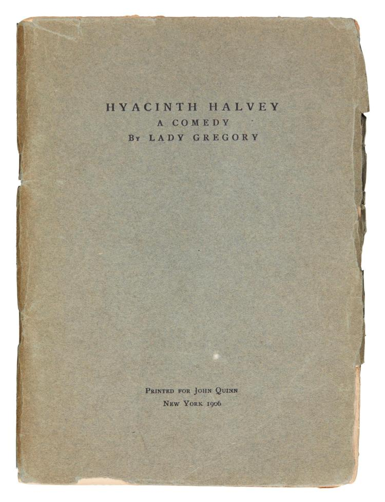 GREGORY, AUGUSTA. HYACINTH HALVEY, 1906, NUMBER 1 OF 30 COPIES (1 VOL.)