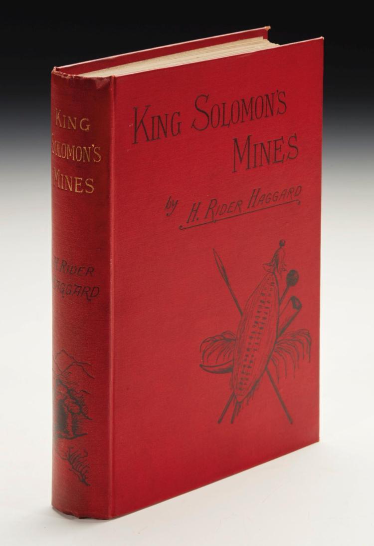 HAGGARD, H. RIDER. KING SOLOMON'S MINES,1885 (1 VOL.)