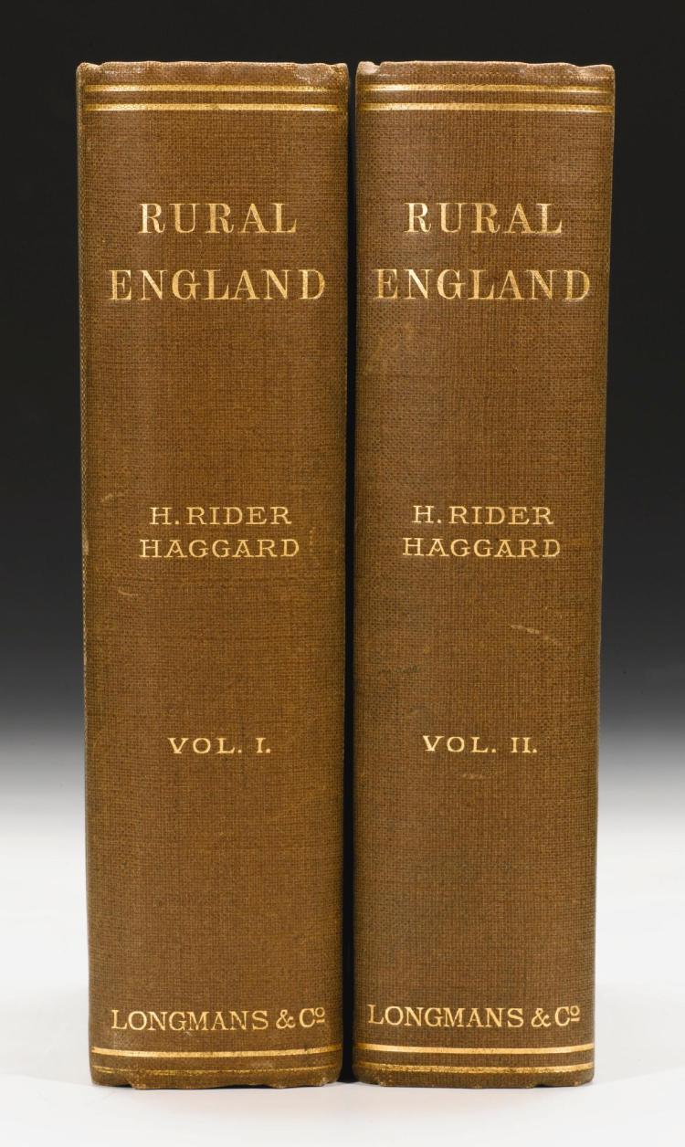 HAGGARD, H. RIDER. RURAL ENGLAND, 1902 (2 VOL.)