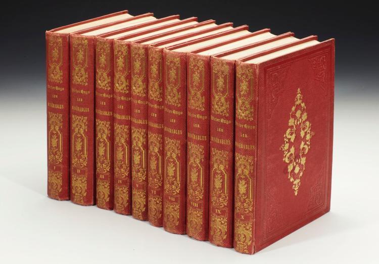 HUGO, VICTOR. LES MISÉRABLES. 1862 (10 VOL.)