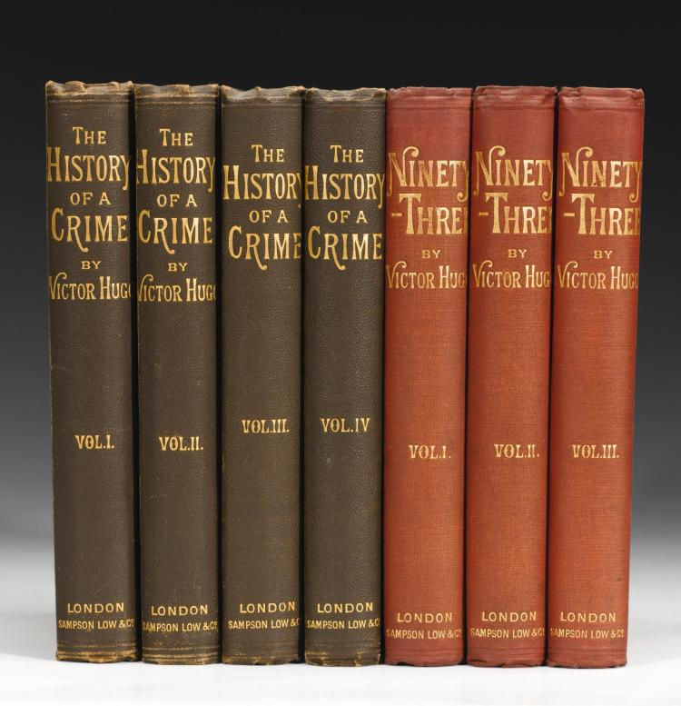 HUGO, VICTOR. TWO WORKS IN 7 VOLUMES, 1874-1877 (7 VOL.)