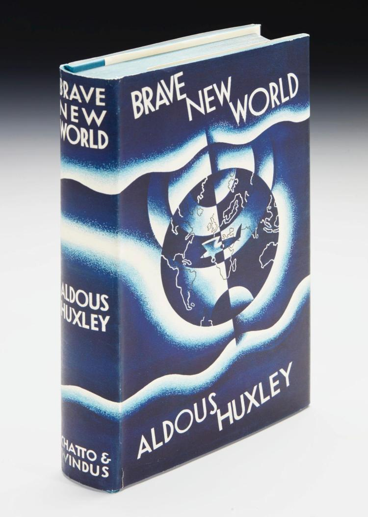 HUXLEY, ALDOUS. A. BRAVE NEW WORLD, 1932 (1 VOL.)
