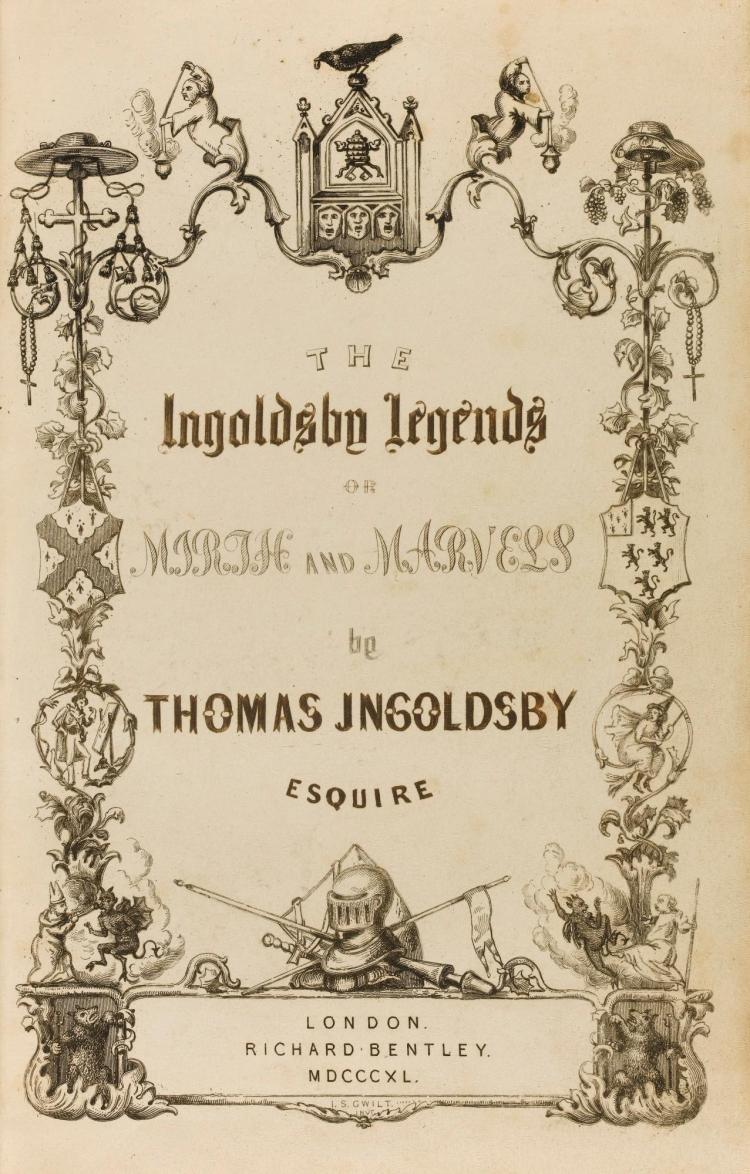 INGOLDSBY, THOMAS, THE INGOLDSBY LEGENDS, 1840-1847 (3 VOL.)