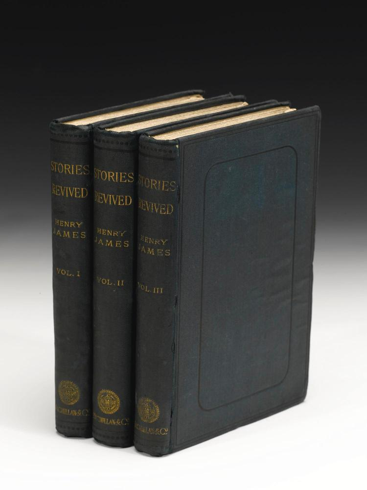 JAMES, HENRY. STORIES REVIVED, 1885 (3 VOL.)