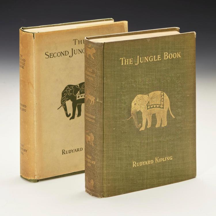 KIPLING, RUDYARD. THE JUNGLE BOOK, 1894 [WITH] THE SECOND JUNGLE BOOK, 1900 (2 VOL.)