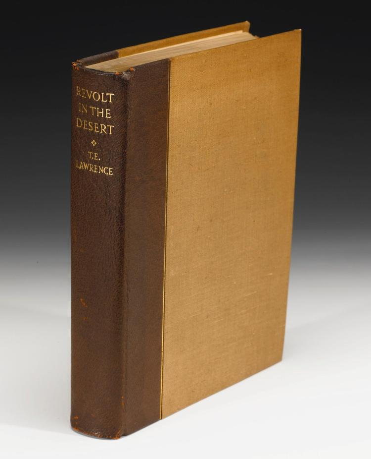 LAWRENCE, T.E. REVOLT IN THE DESERT, 1927, NUMBER 140 OF 315 COPIES (1 VOL.)