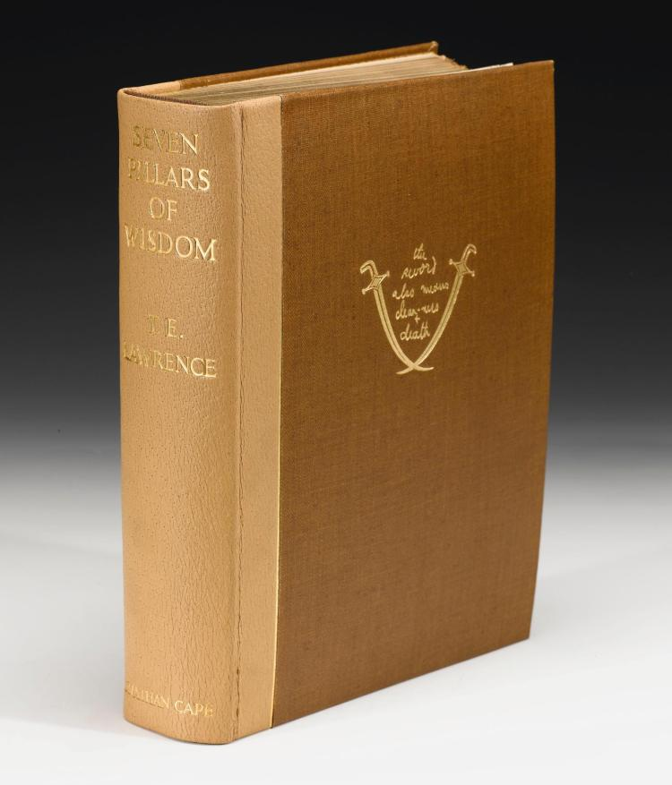 LAWRENCE, T.E. SEVEN PILLARS OF WISDOM, 1935, NUMBER 417 OF 750 COPIES (1 VOL.)