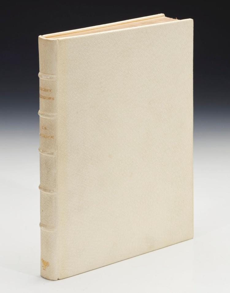 LAWRENCE, T.E. SECRET DESPATCHES, 1939, NUMBER 20 OF 1000 COPIES AND ONE OF 30 SPECIALLY BOUND (1 VOL.)